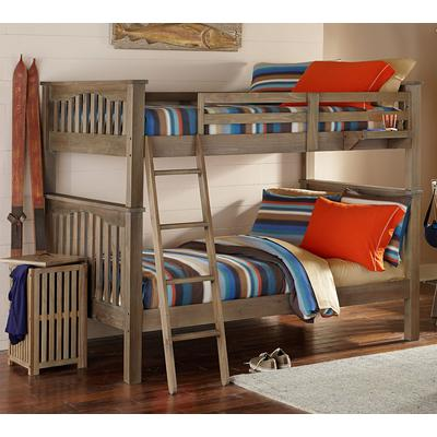 Highlands Harper Full over Full Bunk Bed - Driftwood