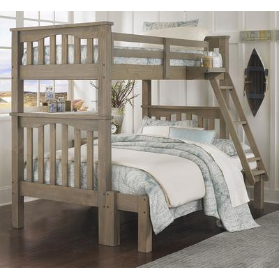 Highlands Harper Twin over Full Bunk Bed Full Extension - Driftwood