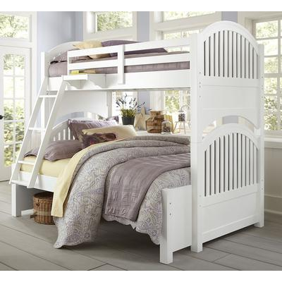 Lake House Adrian Twin over Full Bunk Bed - White