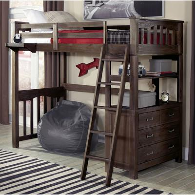 Highlands Twin Loft Bed - Espresso