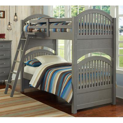 Lake House Adrian Twin over Twin Bunk Bed - Stone