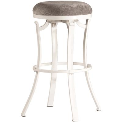 Kelford Swivel Backless Bar Height Stool - White