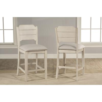 Clarion Non-Swivel Open Back Counter Height Stool - Set of 2