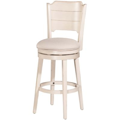 Clarion Swivel Counter Height Stool - Sea White Wood