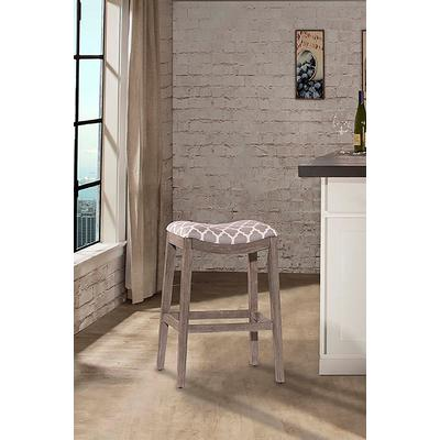 Sorella Non-Swivel Counter Height Stool - Gray Wood