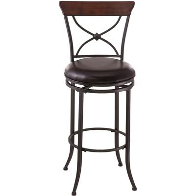 Cameron Swivel X-Back Bar Height Stool