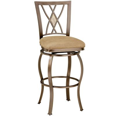 Brookside Diamond Fossil Back Swivel Bar Height Stool