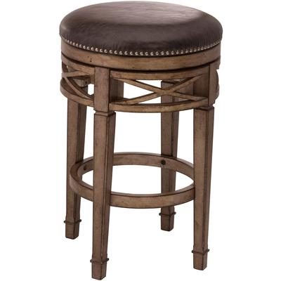 Chesterfield Backless Swivel Counter Height Stool