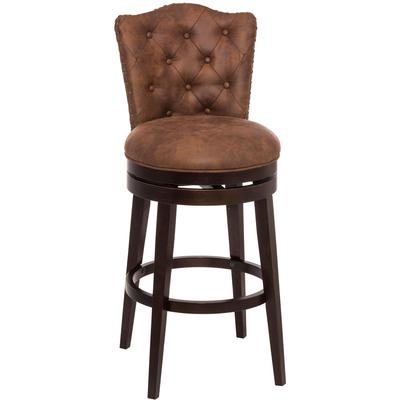 Edenwood Swivel Counter Height Stool - Chocolate and Chestnut
