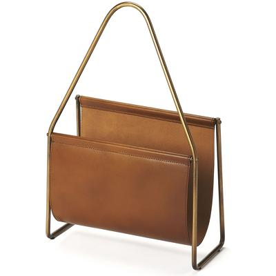 Butler Loft Rupert Leather Magazine Basket