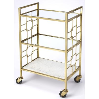 Butler Loft Arcadia Polished Gold Bar Cart