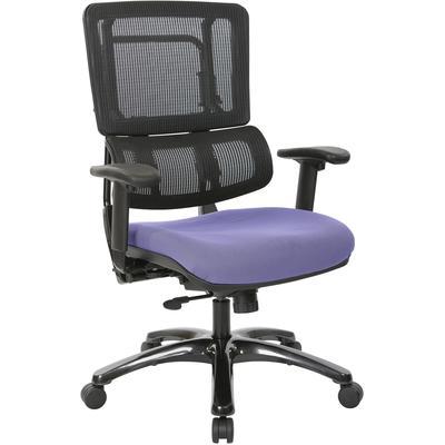 Vertical Black Mesh Back Chair - Violet