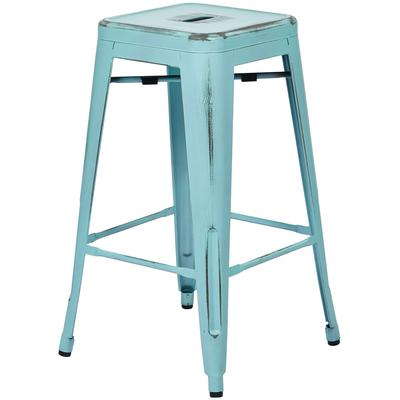 "Bristow 26"" Antique Metal Barstools - 2 Pack"