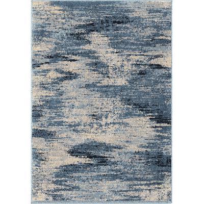 Alison Contemporary 5' x 8' Area Rug - Cream/Blue