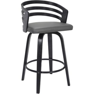 "Phoenix Contemporary 26"" Counter Height Swivel Barstool"