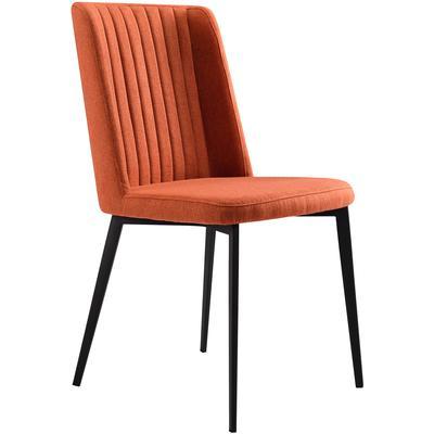 Set of 2 Chinchaga Contemporary Dining Side Chairs - Orange
