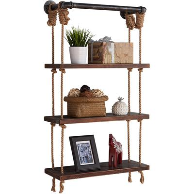 """Carriso 24"""" Modern Pine Wood Floating Wall Shelf"""