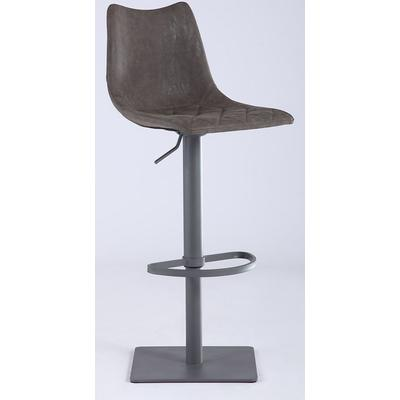 0831 Series Diamond Stiching Seat with Curved Back Adjustable Stool