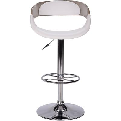 1325 Series Curved Open Wood Back Adjustable Stool