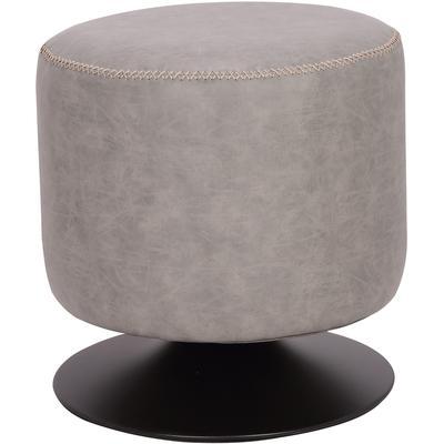 5035 Series Round Vintage Upholstered Ottoman