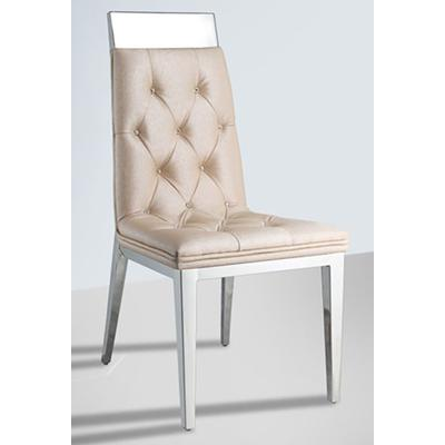 Norma Tufted chair with Crystal Accent