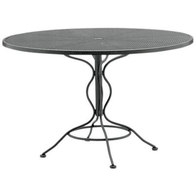 "48"" Round Set-Up Umbrella Table with Mesh Top"