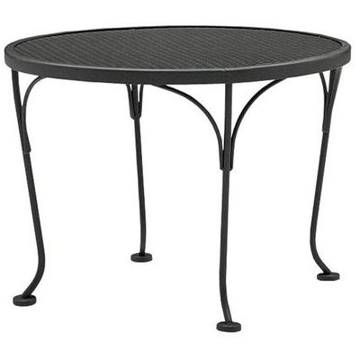 "Occasional 24"" Round End Table with Mesh Top"