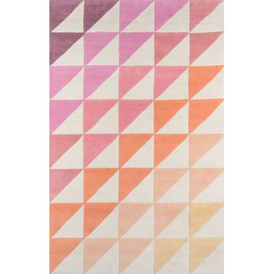 Delmar Pink Agatha Side Triangle Area Rug