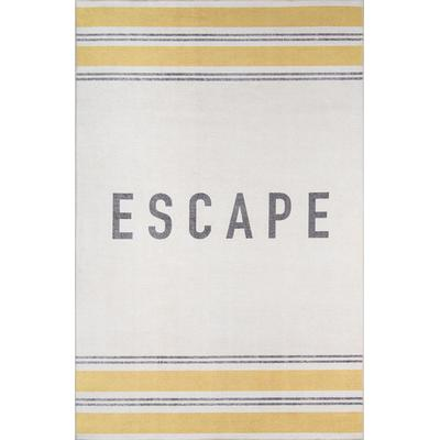 District Yellow Escape Area Rug