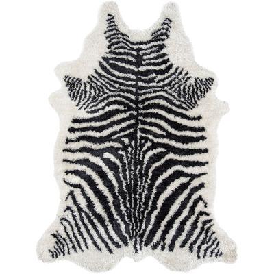 Kalahari Black Zebra Area Rug