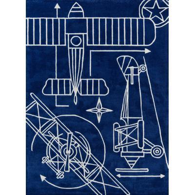 Lil Mo Hipster Blueprint Area Rug
