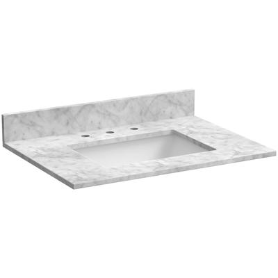 "31"" Marble Vanity Top in Carrara White"